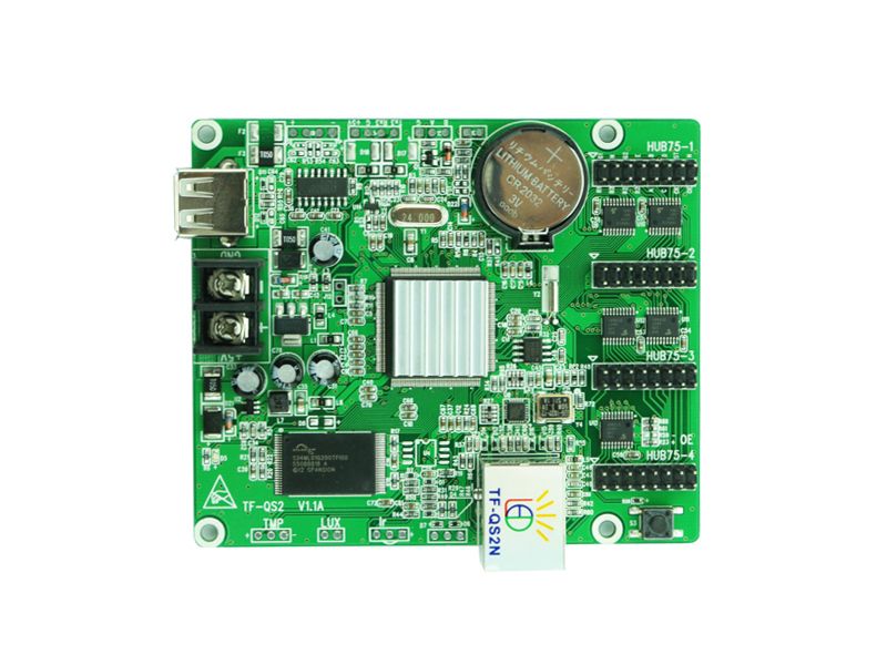 USB+Network Port Full color led video control card TF-QS2N