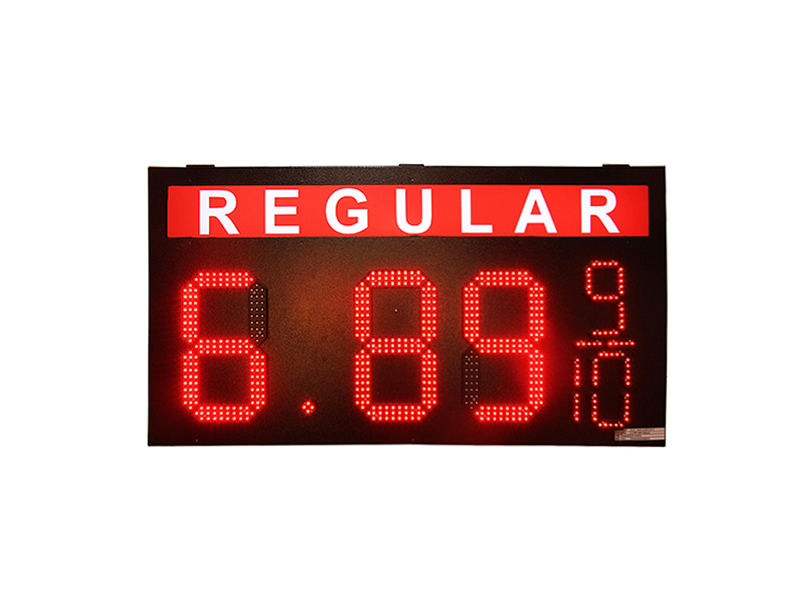 REGULAR 12 inch 8.88 9/10 Outdoor led gas price digital sign