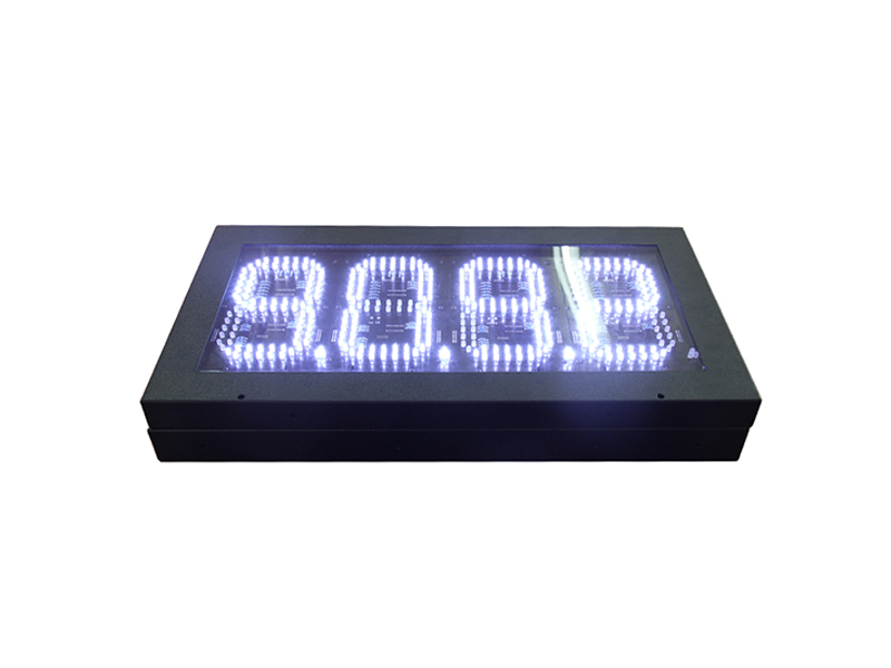 white 8'' digital numbers led petrol station price display sign